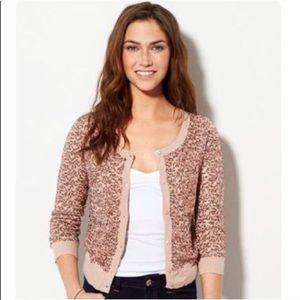 AEO Rose Sequin Cardigan Sweater